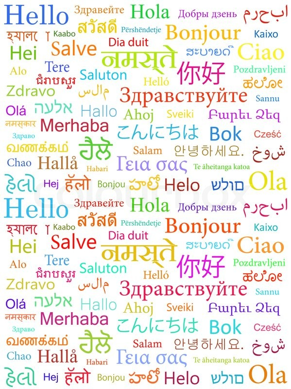 The Word Hello Written With The Different World Languages Over - All languages in the world