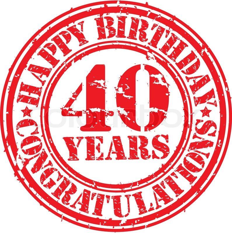 Alles Gute Zum Geburtstag 40 Jahre Vektorgrafik Colourbox