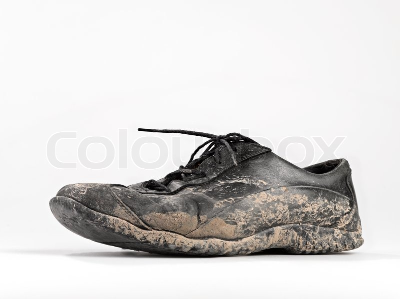 Muddy And Dirty Shoe Stock Photo Colourbox