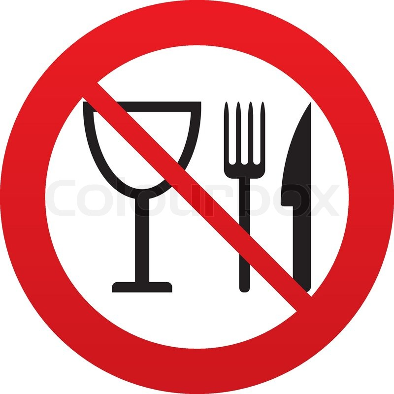 Eat Sign Icon Cutlery Symbol Knife Fork And Wineglass Red