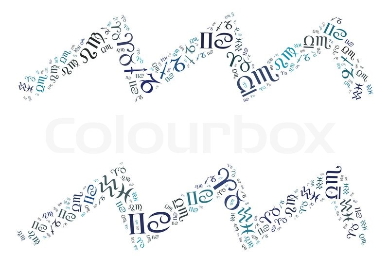 Zodiac Info Text Graphics Composed In Aquarius Zodiac Sign Symbols