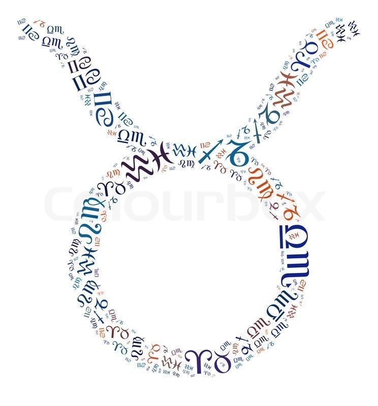 Zodiac Info Text Graphics Composed In Taurus Zodiac Sign Symbols