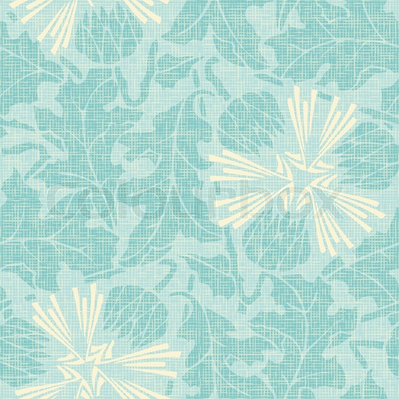The Texture Of Teal And Turquoise: Cute Turquoise Floral Seamless Pattern. Can Be Used For