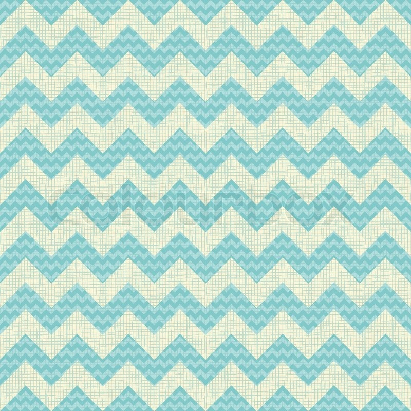 Vector Seamless Chevron Pattern On Linen Turquoise Canvas Background Vintage Rustic Burlap Zigzag