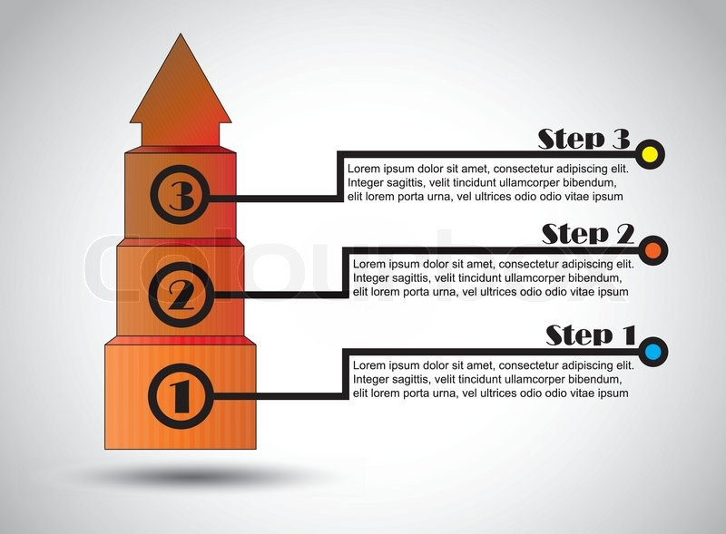 Success Steps Business Proposal Infographics Successful Growth Three Step Colorful Infographic
