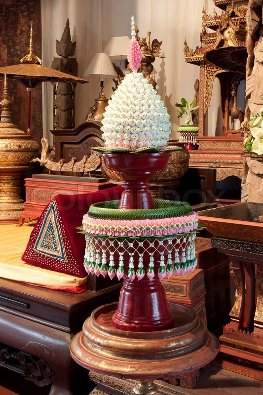 CHAIANG MAI, THAILAND - JANUARY 26, 2014 : Tradition product of Thailand, Thai culture LANNA of The Mandarin Oriental Dhara Dhevi Chiang Mai, Thailand. , stock photo
