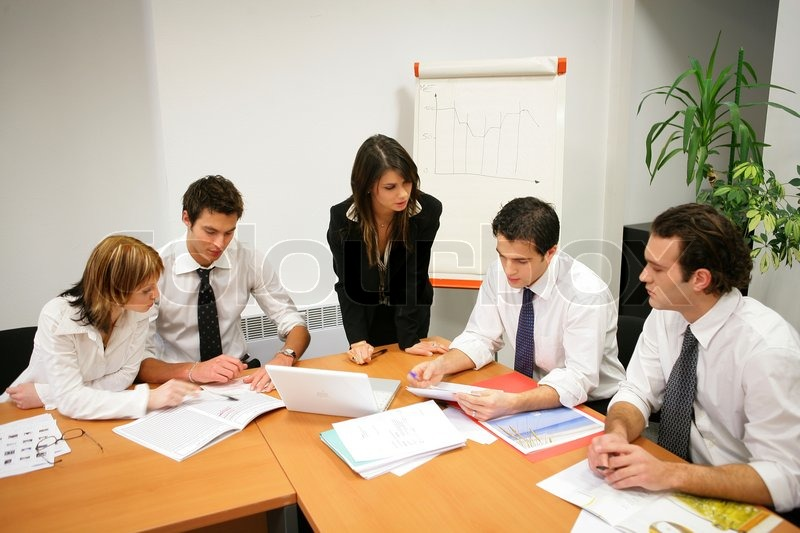 Young people in a business meeting, stock photo