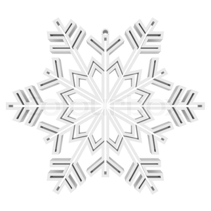 White Snowflake. Isolated render on ...   Stock Photo ...