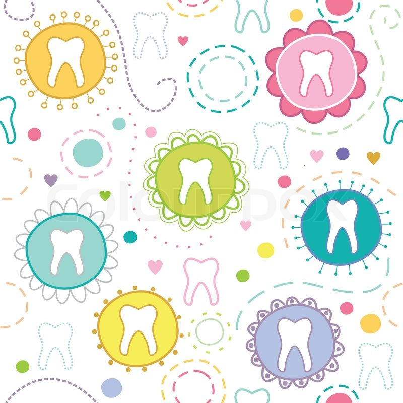 tooth fabric, wallpaper & gift wrap - Spoonflower |Cute Teeth Wallpaper