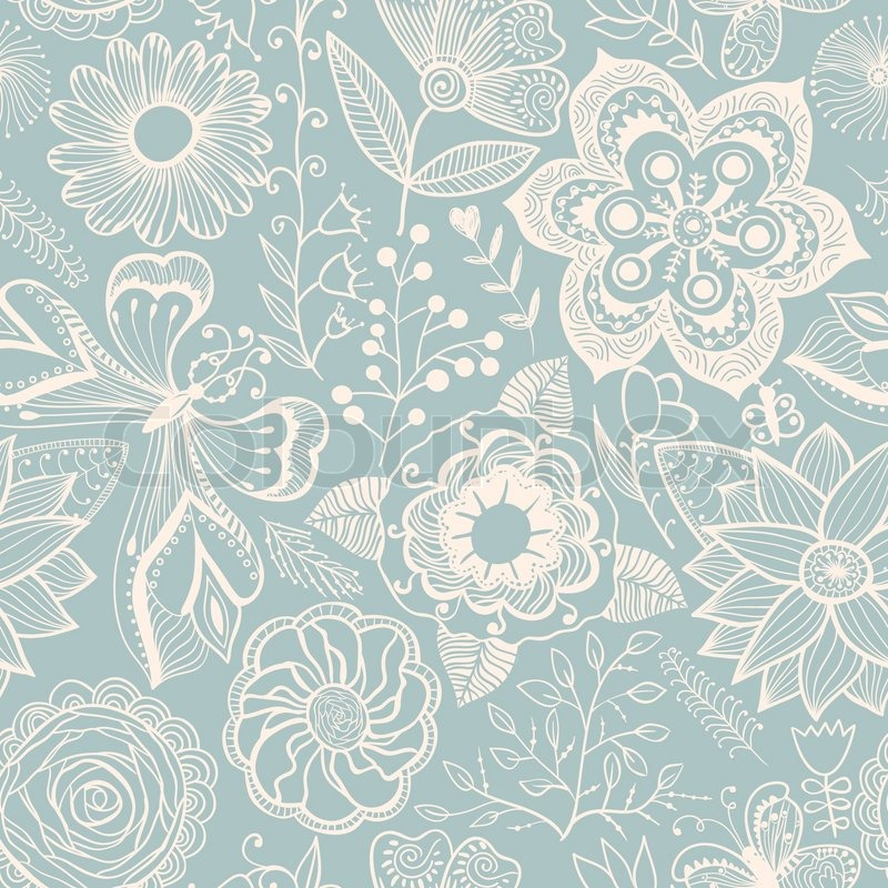 Abstract Floral Background, Summer ...