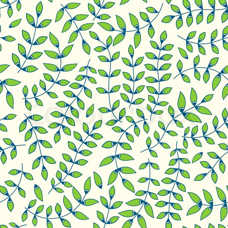 Seamless Pattern With Leaf Abstract Leaf Texture Endless