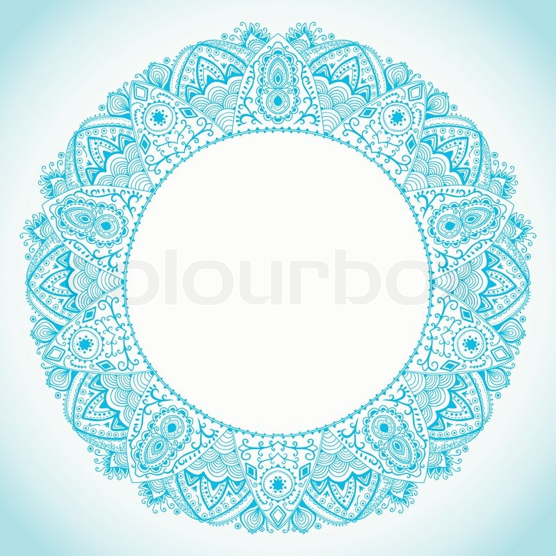 Ornamental round lace frame. Background for celebrations, holidays ...