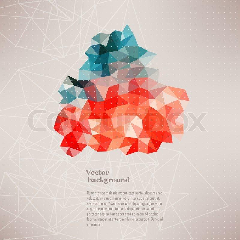 Muster Fur Pflastern : Hintergrundmuster Dreieck, DreieckHintergrund, vector Illustration