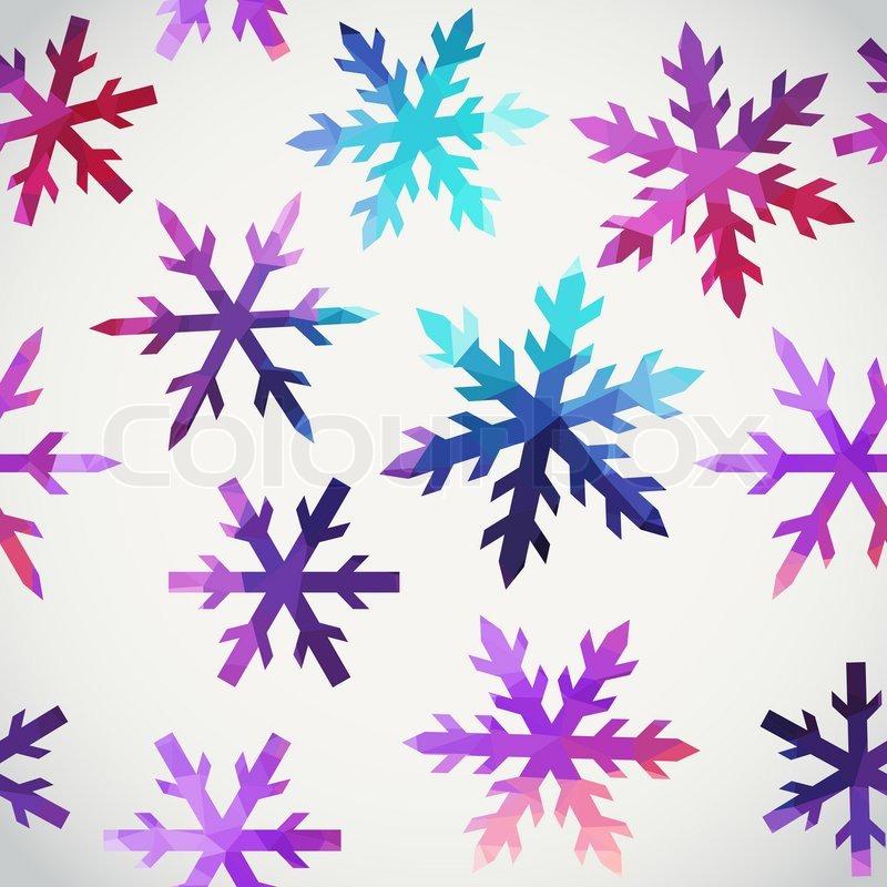 Schneeflocken-Muster. abstrakte Schneeflocke geometrische Formen ...