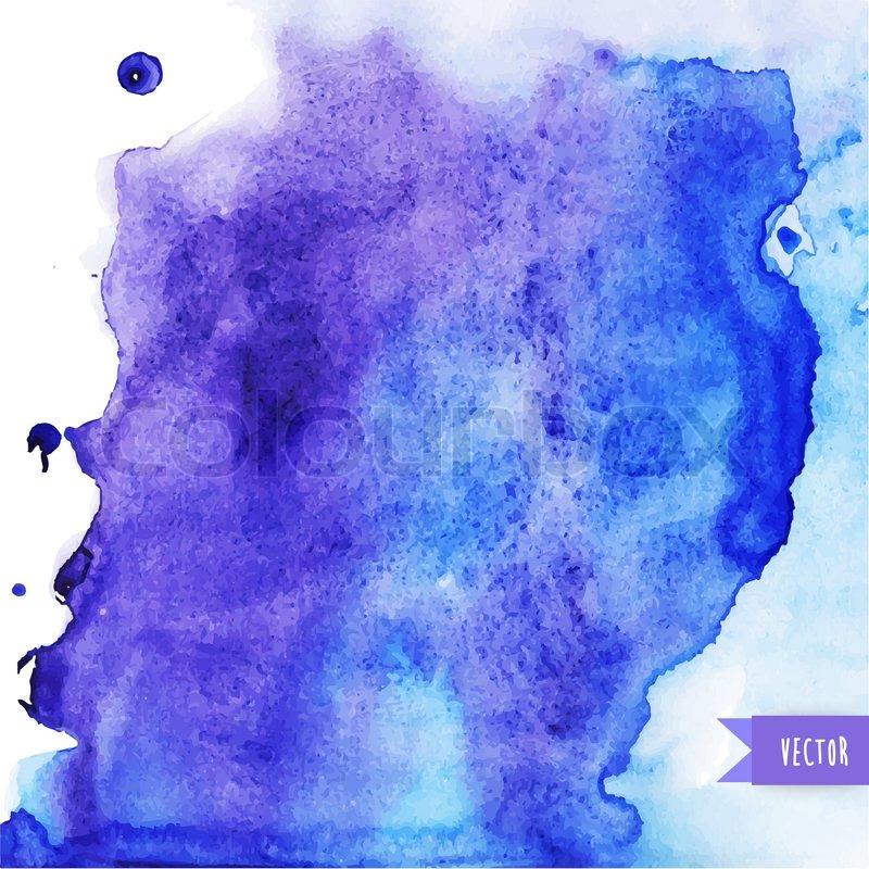 Vector watercolor texture. Grunge paper template. Wet paper. Blobs ...