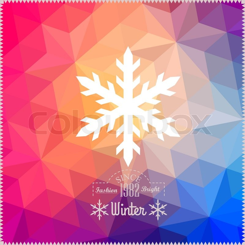 vector snowflake abstract snowflake on geometric pattern