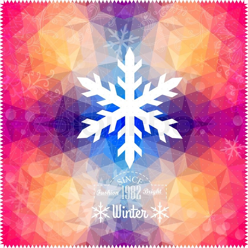 Christmas New Year Card IllustrationHoliday Design Winter Backdrop Retro Pattern Of Geometric Shapes Hipster Background