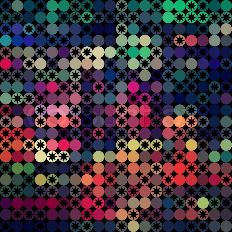 Vector Seamless Pattern Constellation On Black Stock ...  Space Repeating Background Patterns