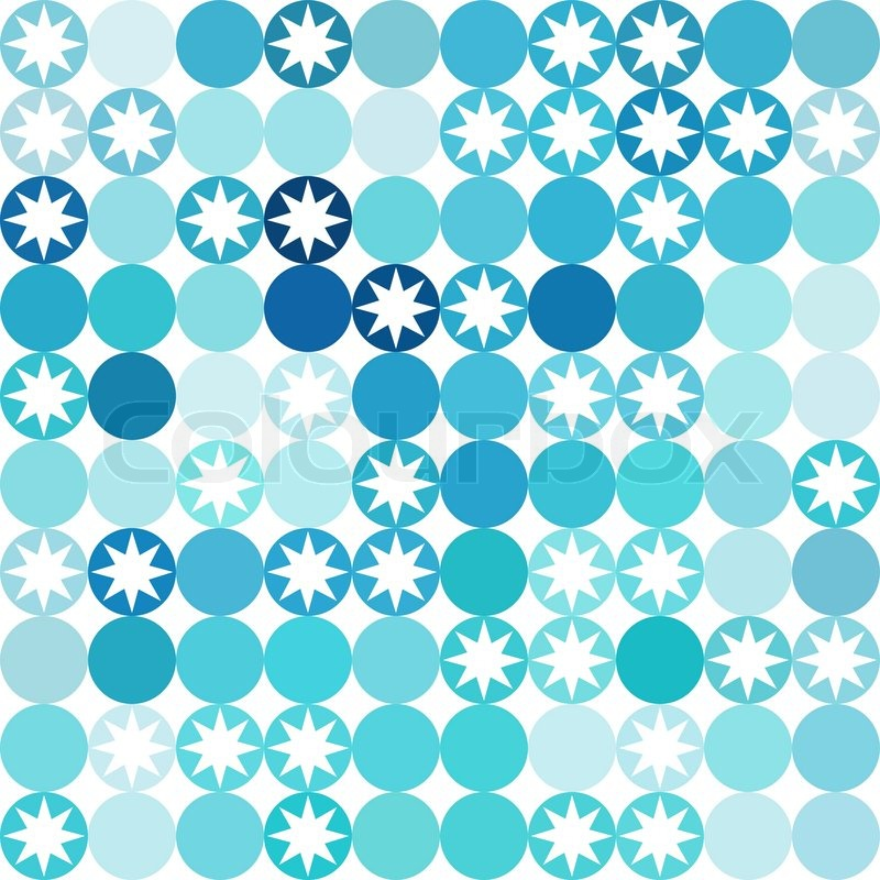 Vector Background Of Repeating Geometric Stars Geometric