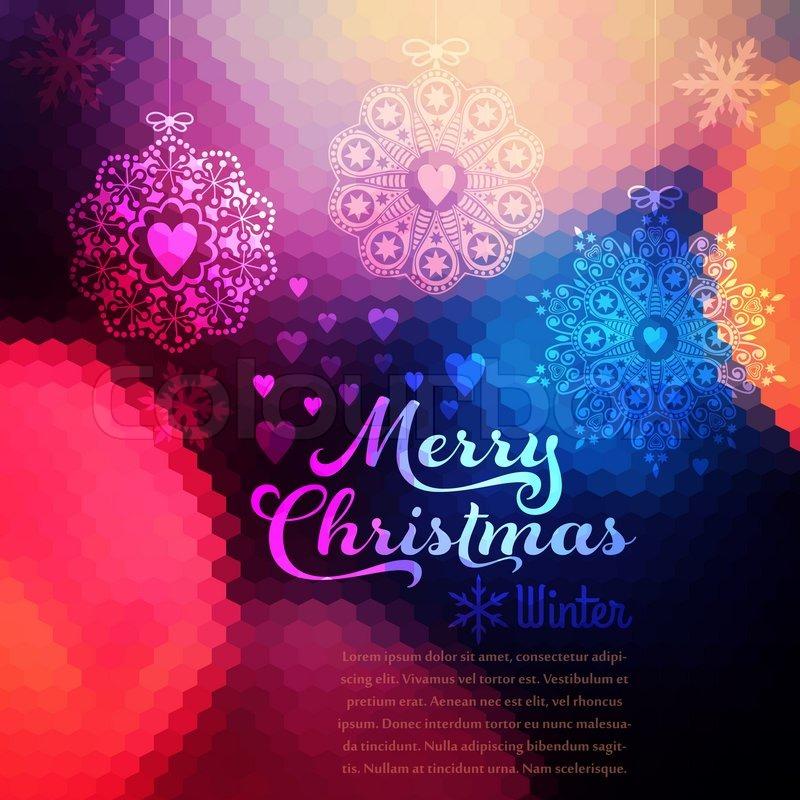 Vector Christmas background. Christmas ball. Retro backdrop. Blur ...