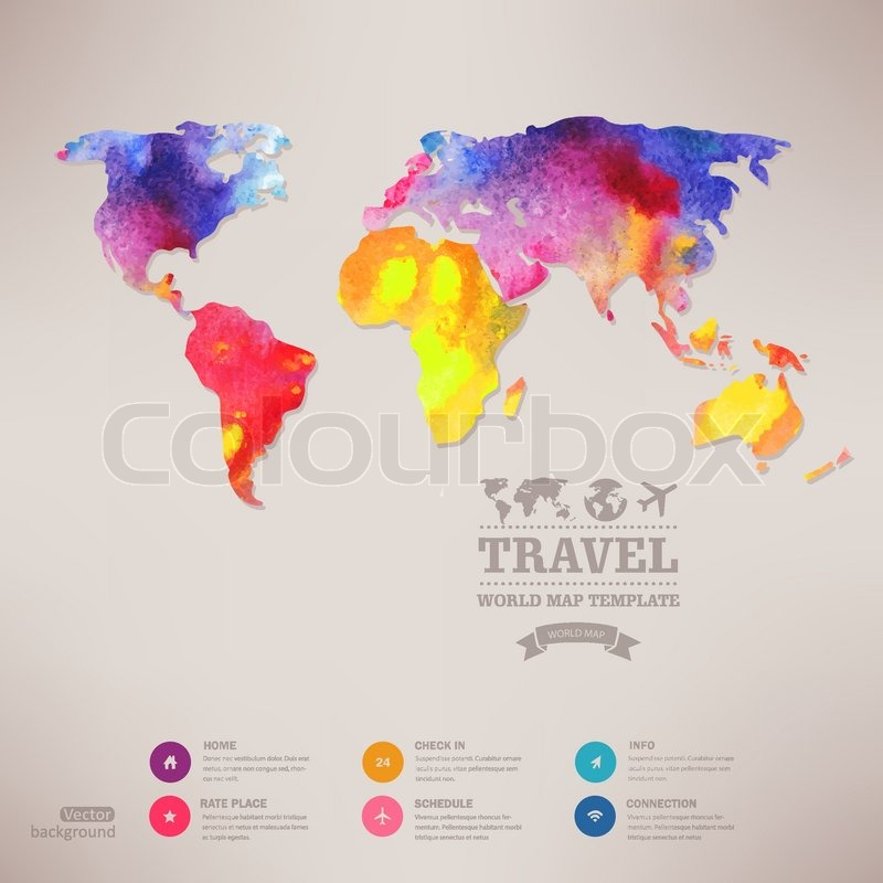 Vector watercolor map web and mobile template corporate website stock vector of vector watercolor map web and mobile template corporate website design gumiabroncs Choice Image