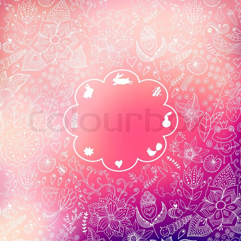 Vector Valentine S Day Background Stock Vector Colourbox