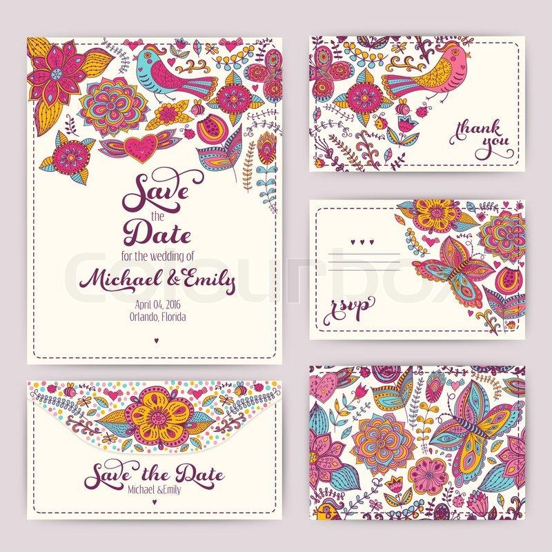 Druckbare Hochzeit Einladung-Vorlage: Einladung, Umschlag ...