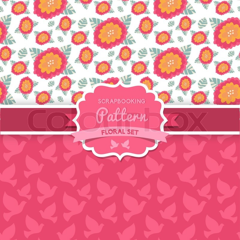 Shabby Chic Floral Patterns Seamlessly Tiling Can Be Used For Wallpaper Pattern Fills Web Page Backgroundsurface Textures