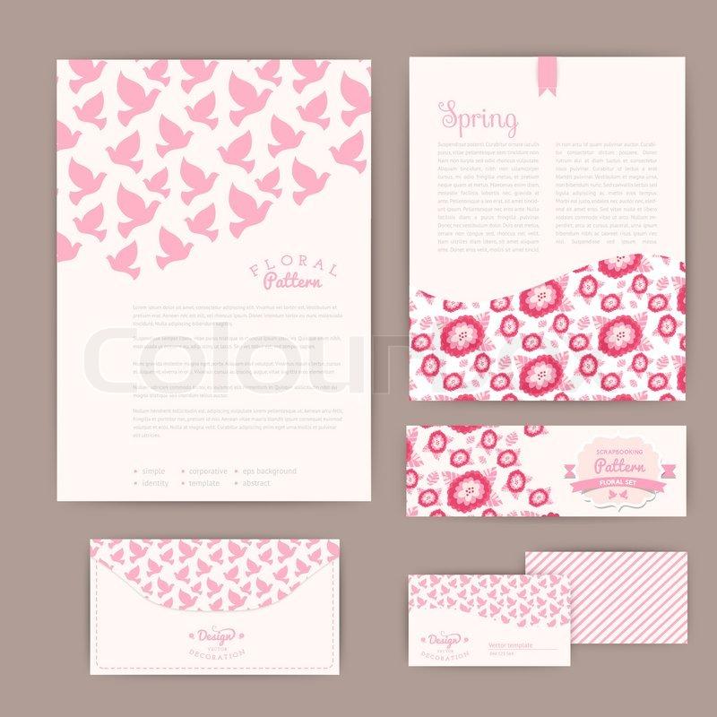Set of floral vintage wedding cards invitations or announcements – Floral Vintage Wedding Invitations