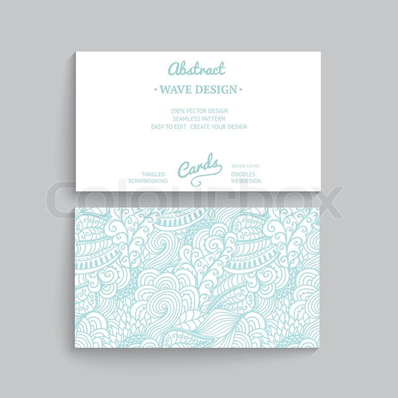 Vector simple business card template with decorative ornament vector simple business card template with decorative ornament original design wave decoration minimalistic design seamless pattern is masked and friedricerecipe Choice Image