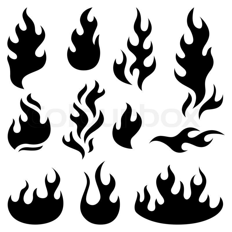 feuer flammen design elemente stockfoto colourbox. Black Bedroom Furniture Sets. Home Design Ideas