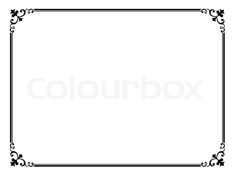 Rahmen Vorlagen Schnörkel : schn rkel rahmen einfach stock vektor colourbox ~ Eleganceandgraceweddings.com Haus und Dekorationen