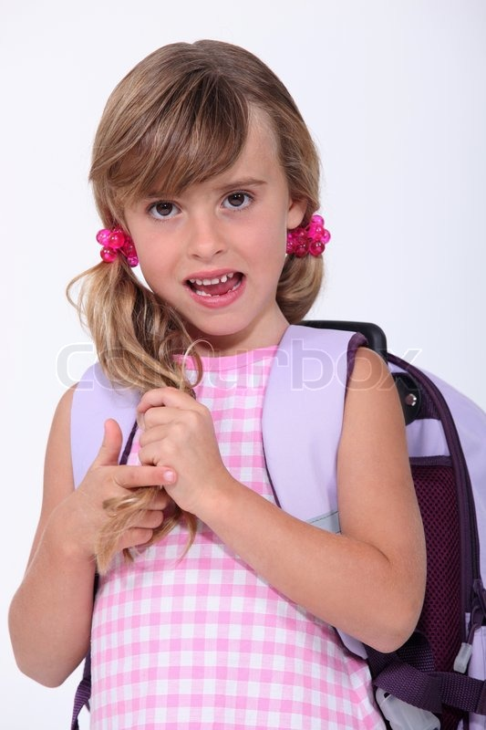 young girl nued in school