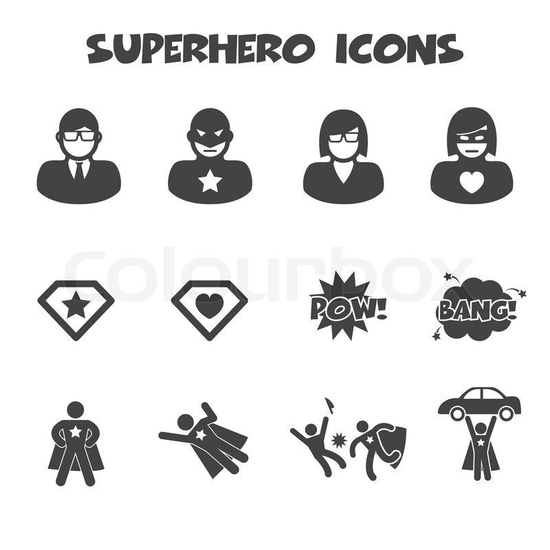 Superhelden symbole vektorgrafik colourbox - Symbole de superman ...