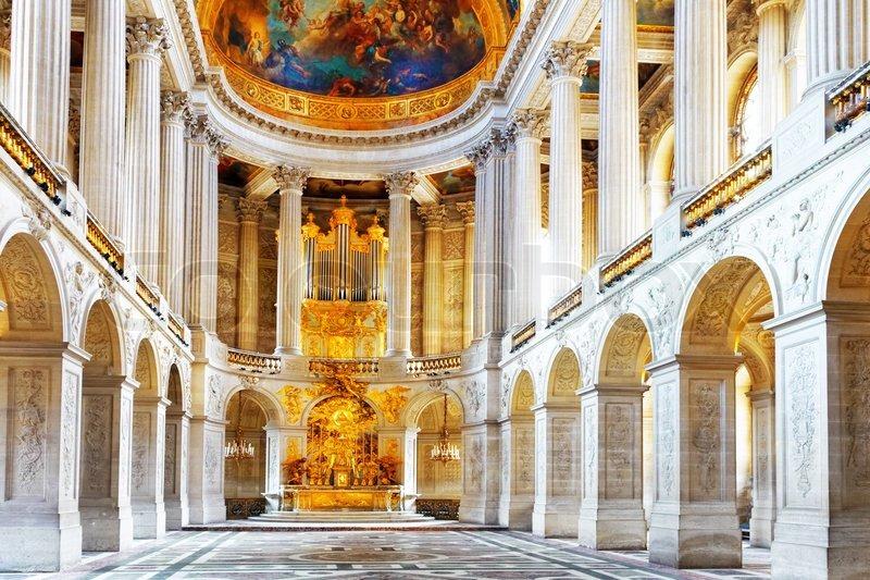 Schloss von versailles ber hmte k nigliche kapelle innen for Salon de versailles 2016