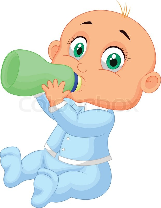 vector illustration of baby boy cartoon drinking milk stock vector colourbox - Cartoon Picture Of A Child