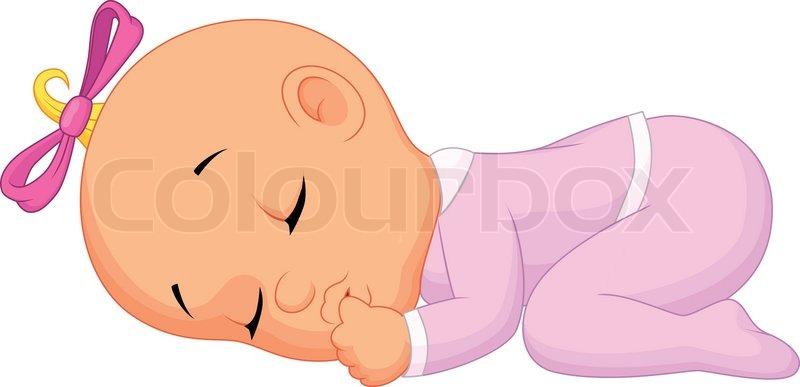 Vector Illustration Of Baby Girl Stock Vector Colourbox