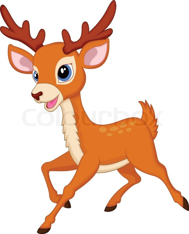 Vector Illustration Of Cute Deer Stock Vector Colourbox