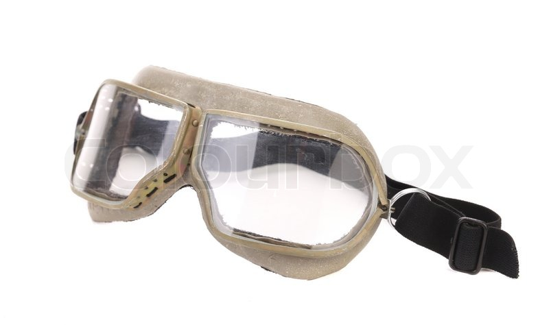 Stock image of 'Protective glasses. Isolated on a white background.'