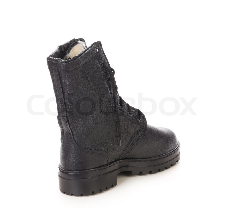 Stock image of 'Men's leather shoes. Isolated on a white background.'