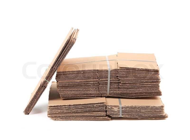 Stock image of 'Cardboard. Isolated on a white background.'