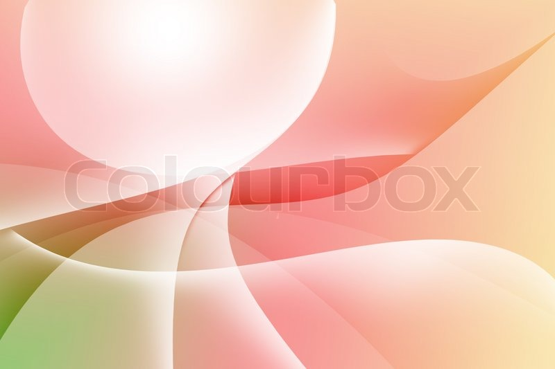 Stock image of 'abstract curve and lines texture green and red background'