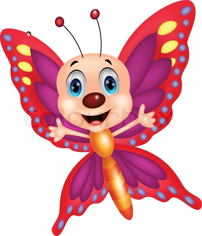 Vector Illustration Of Cute Butterfly ...