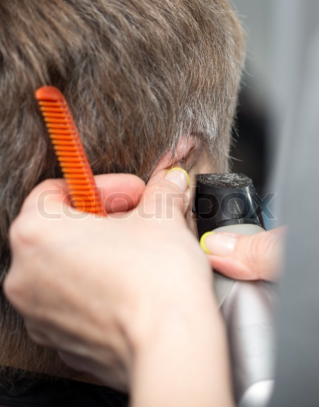 Stock image of 'Haircut at the beauty salon'