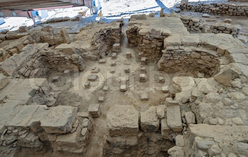 Editorial image of 'Ruins of Eustolios house at ancient town Kourion on Cyprus'