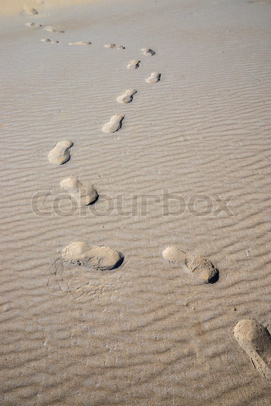 Stock image of 'Journey Traces in the Sand'