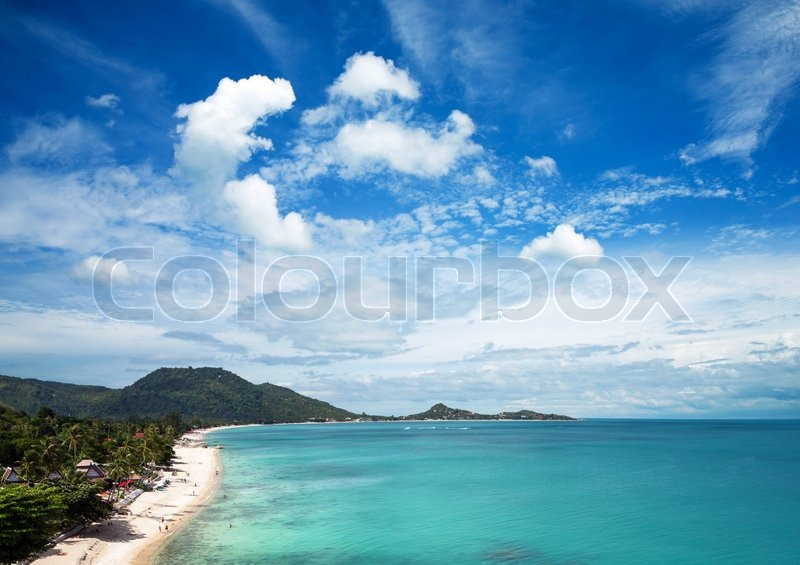 Stock image of 'beautiful beach and tropical sea'