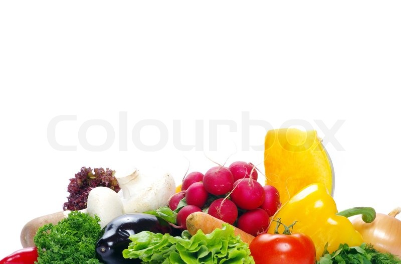 Stock image of ' vegetables on the white background'
