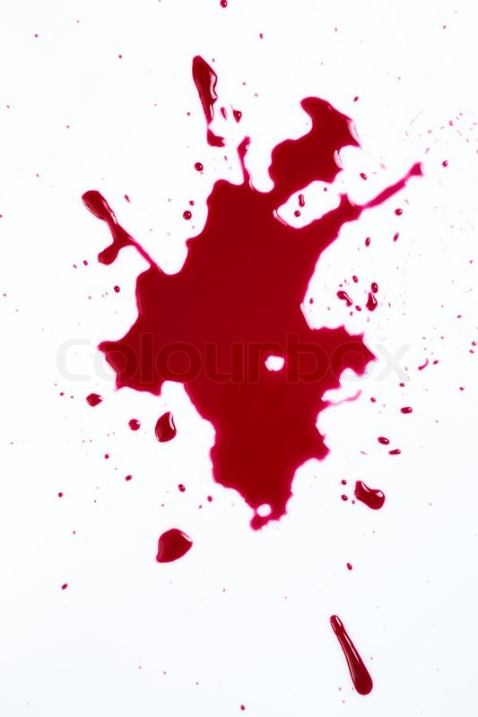 Stock image of 'Murder. Red blood on white background'