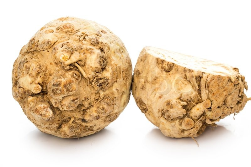 Stock image of 'Vegetable. Celery root on a white background'